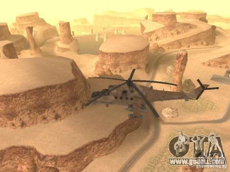 Mi-24 p Desert Camo for GTA San Andreas inner view