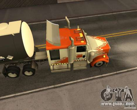 Western Star 4900 EX for GTA San Andreas back left view