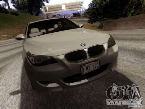 BMW M5 E60 2009 for GTA San Andreas back left view