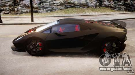 Lamborghini Sesto Elemento 2013 V1.5 for GTA 4 inner view