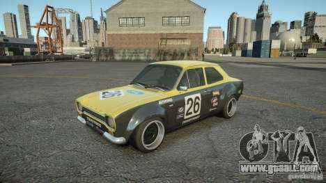 Ford Escort Mk1 for GTA 4 back view