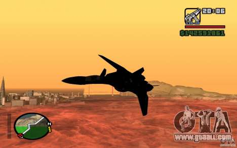 Y-f19 macross Fighter for GTA San Andreas back left view