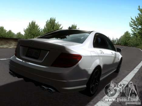 Mercedes-Benz C63 AMG 2010 for GTA San Andreas left view