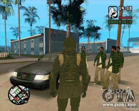 Skin SAS for GTA San Andreas second screenshot