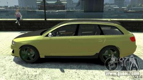 Audi RS6 Avant 2010 Carbon Edition for GTA 4 left view