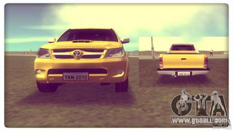 Toyota Hilux SRV 4x4 for GTA Vice City back left view
