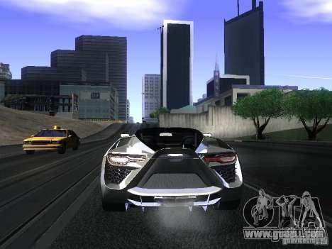 Bertone Mantide for GTA San Andreas back view