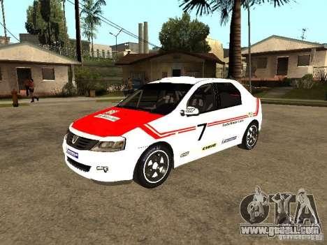 Dacia Logan Rally Dirt for GTA San Andreas upper view