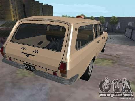 GAZ-24 Volga Taxi 02 for GTA San Andreas back left view