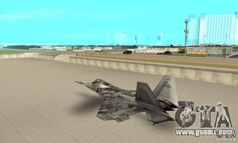 YF-22 Starscream for GTA San Andreas back left view