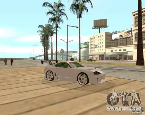 Toyota Supra TwinTurbo for GTA San Andreas right view