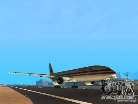 Boeing 777-200 American Airlines for GTA San Andreas left view