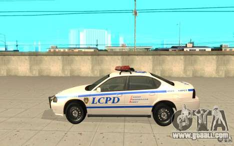 Police Patrol from GTA 4 for GTA San Andreas left view