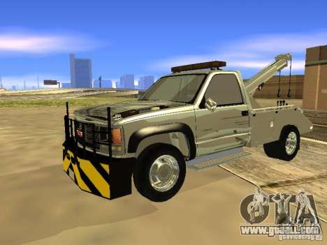GMC Sierra Tow Truck for GTA San Andreas left view
