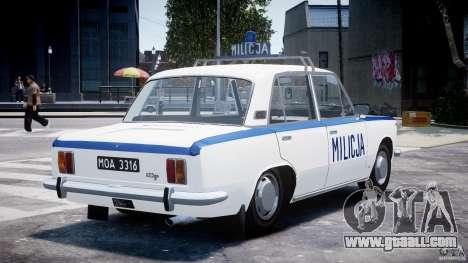 Fiat 125p Polski Milicja for GTA 4 side view