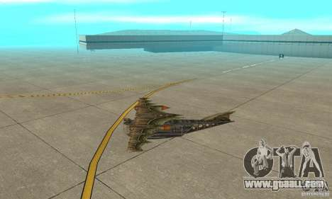 Very nice plane from TimeShift for GTA San Andreas back left view
