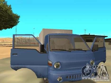 Hyundai Porter for GTA San Andreas back view