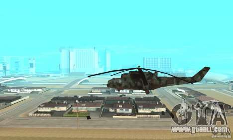 Black Ops Hind for GTA San Andreas left view