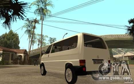 Volkswagen Transporter T4 for GTA San Andreas back left view