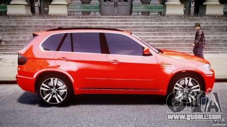 BMW X5M Chrome for GTA 4 left view