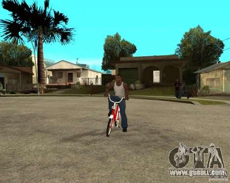 Tair GTA SA Bike Bike for GTA San Andreas back view