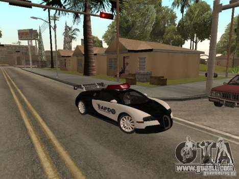 Bugatti Veyron Police for GTA San Andreas left view