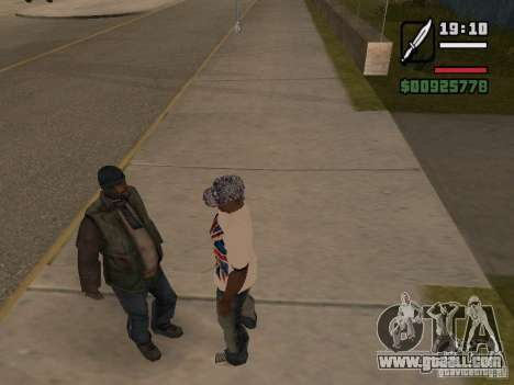 Give the homeless a little trivia for GTA San Andreas