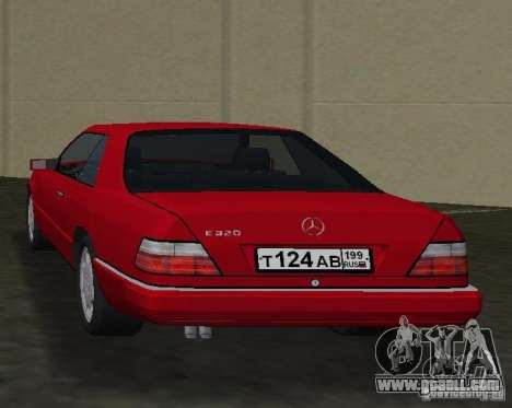 Mercedes-Benz E 320 (C124) for GTA Vice City back left view