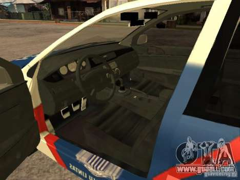Mitsubishi Lancer Police Indonesia for GTA San Andreas back left view