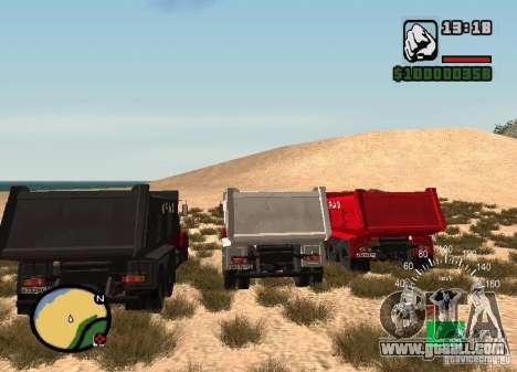 KrAZ 65055 Truck for GTA San Andreas back left view