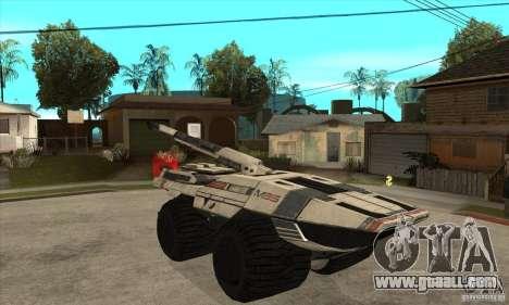 M35 Mako for GTA San Andreas back view