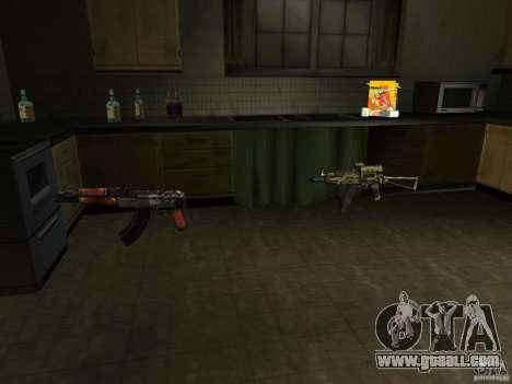 Domestic weapons-version 1.5 for GTA San Andreas third screenshot