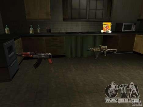 Domestic weapons-version 1.5 for GTA San Andreas third screenshot