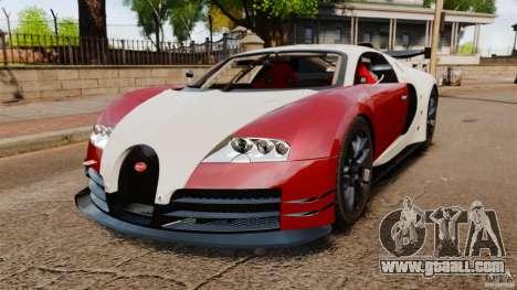 Bugatti Veyron 16.4 Body Kit Final Stock for GTA 4