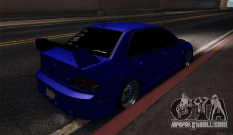 Mitsubishi Lancer Evolution for GTA San Andreas right view