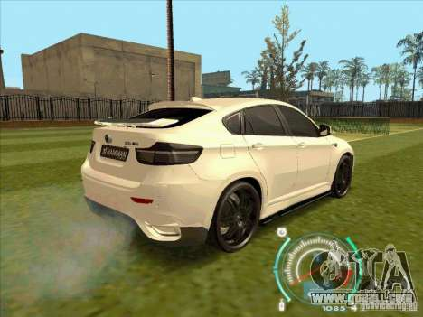 BMW X6 M Hamann Design for GTA San Andreas left view