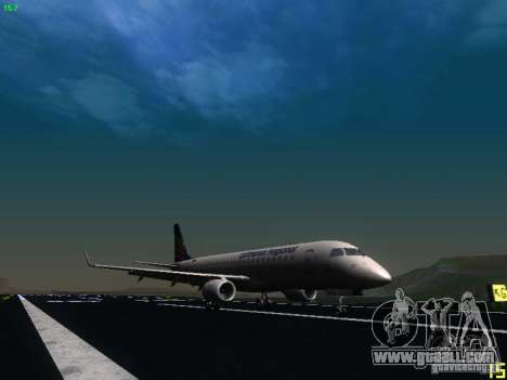 Embraer ERJ 190 Lufthansa Regional for GTA San Andreas back left view