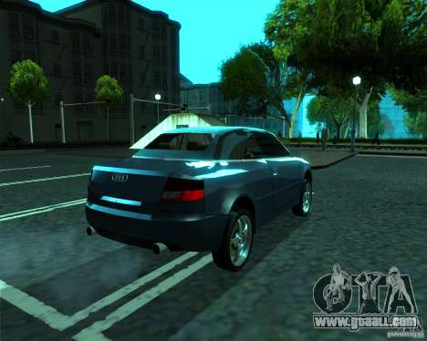 Audi A4 Cabrio for GTA San Andreas back left view