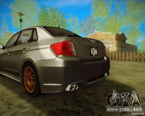 Subaru Impreza WRX STI 2011 for GTA San Andreas back view