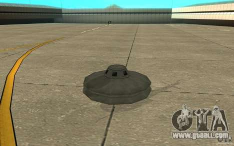 UFO for GTA San Andreas left view