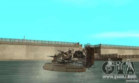 HL2 Airboat for GTA San Andreas back left view