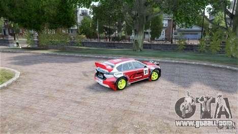Subaru Impreza WRX STI RALLYCROSS Eibach Springs for GTA 4 back left view