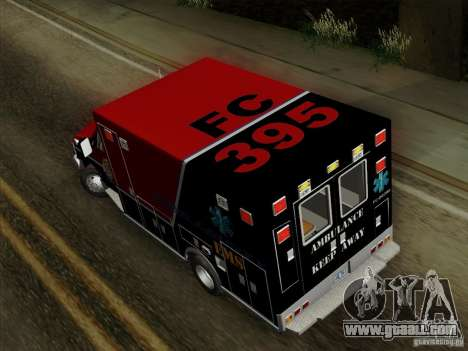 Ford E-350 AMR. Bone County Ambulance for GTA San Andreas inner view