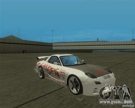 Mazda RX-7 weapon war for GTA San Andreas back view