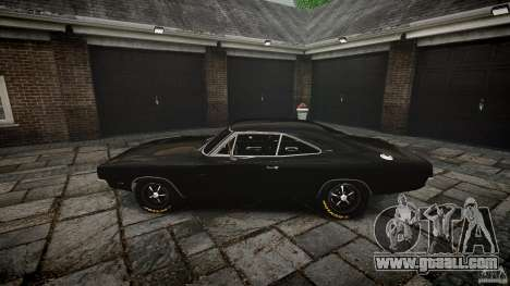 Dodge Charger RT 1969 for GTA 4 upper view