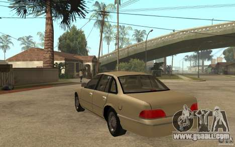Ford Crown Victoria LX 1992 for GTA San Andreas back left view