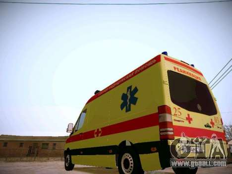 Mercedes Benz Sprinter Ambulance for GTA San Andreas back view
