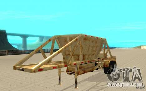 Petrotr trailer 2 for GTA San Andreas left view