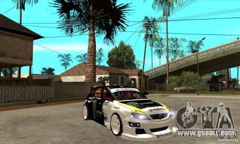 Subaru Impreza 2009 (Ken Block) for GTA San Andreas back view