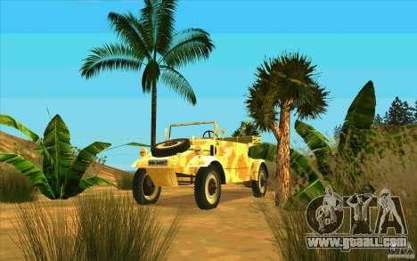 Kuebelwagen v2.0 desert for GTA San Andreas back view